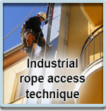 Industrial rope access technique