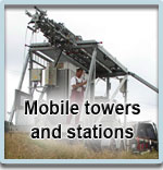 Mobile towers and stations